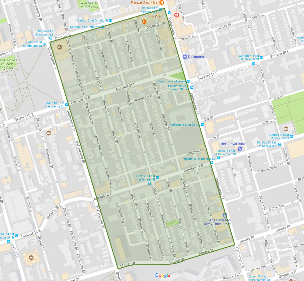 Cabbagetown South Map