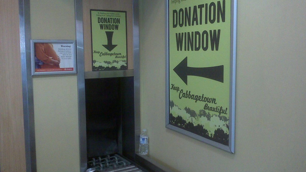 Beer Store Donation Window