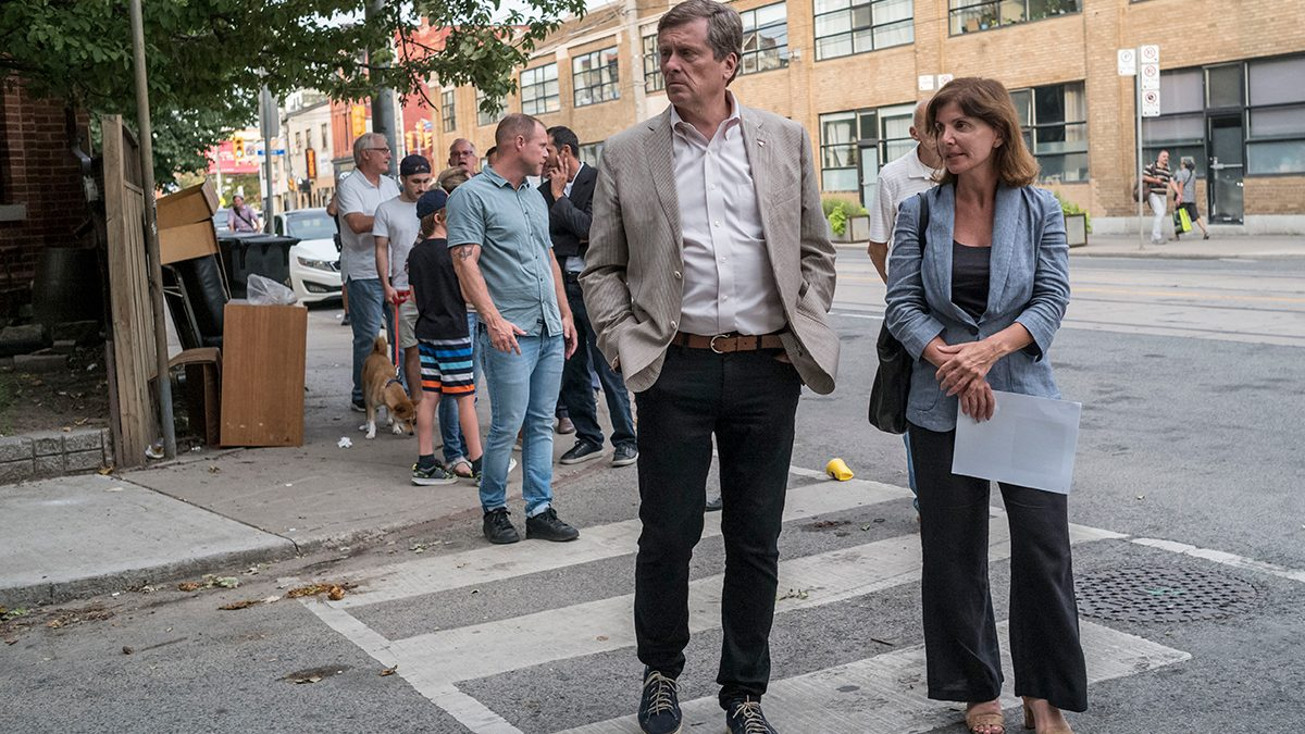 Mayor Tory and Councilor Lucy Troisi
