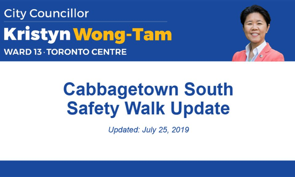 Cabbagetown South Safety Walk Update