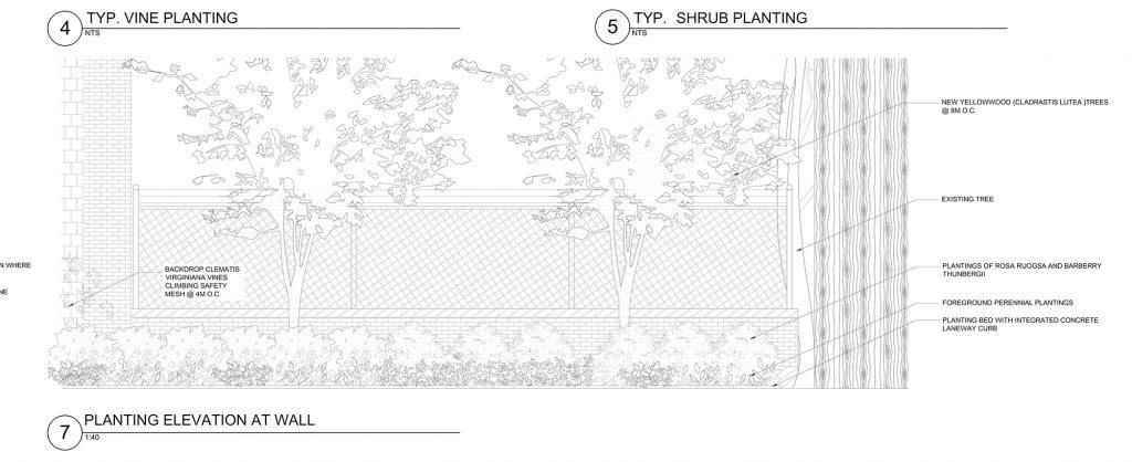 Calgie Lane - Landscaping Plan / Credit: Photo Credit: HOK ©2019