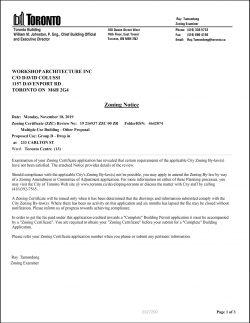 233 CARLTON ST - Zoning Notice-1