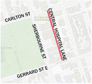 Laneway Project Hospital Lane Map