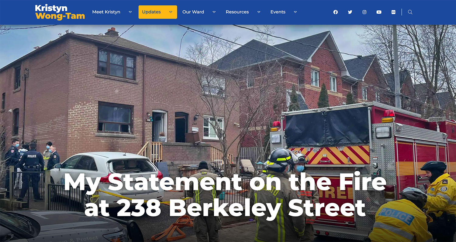 238 Berkeley Street Fire
